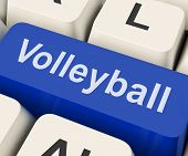 Volleyball Key Showing Volley Ball Game Online