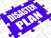 image of precaution  - Disaster Plan Puzzle Showing Danger Emergency Crisis Protection - JPG