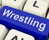 Wrestling Key Shows Wrestler Fighting Or Grappling Online