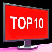Top Ten Screen Shows Best Ranking Or Rating