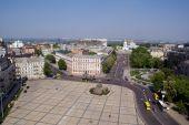 stock photo of bohdan  - Square and church in center of Kiev - JPG