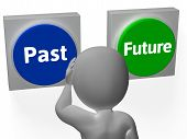 Past Future Buttons Show Progress Or Time