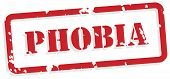 Phobia Rubber Stamp