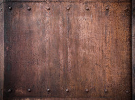 foto of ironclad  - old metal background with rivets - JPG