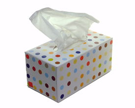 foto of tissue box  - An opened box of paper tissues - JPG