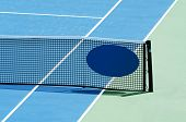Outdoor Tennis Court Focus On The Net