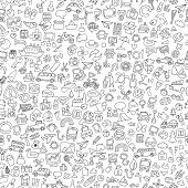 picture of car symbol  - Symbols seamless pattern in black and white  - JPG