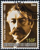 DJIBOUTI - CIRCA 2008: stamp printed in Djibouti shows Aristide Briand