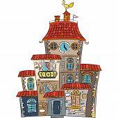 Vector Fairytale Multicolored House
