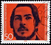GERMANY - CIRCA 1970: stamp printed in Germany shows Friedrich Engels