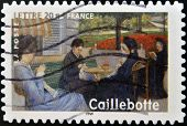 FRANCE - CIRCA 2006: A stamp printed in France shows Portrait in the country by Gustave Caillebotte