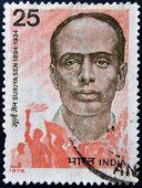 INDIA - CIRCA 1978: stamp printed in India shows Surjya Sen circa 1978