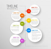 Vector Infographic timeline report template with icons