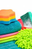 Towels, Sponge, Microfiber, Bowl, Supplies For Cleaning