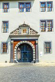Decorated Facade And Gate  In Weimar
