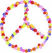 stock photo of hippy  - Vector Of Peace - JPG