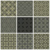 Seamless print patterns. Vector illustration.