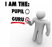 I am the Guru Words Teacher Master Expert Leader