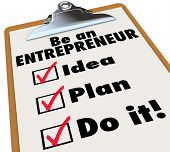 stock photo of entrepreneur  - Be an Entrepreneur Checklist Own Business Self Employment - JPG