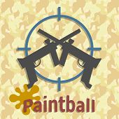 Paintball guns and splash poster