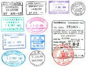 Passport Stamps And Visa's