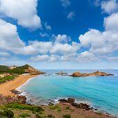 Cala Pregonda in Menorca at Balearic islands es Mercadal