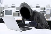 stock photo of sneak  - Internet Theft  - JPG