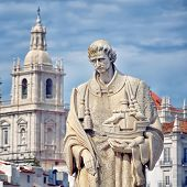 Statue Of Sao Vicente In Lisbon