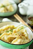 Chinese dumplings with ground chicken
