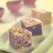 image of mid autumn  - Retro vintage style Chinese mid autumn festival foods - JPG
