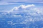 Cloud Scatter On Blue Sky