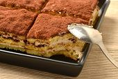 Close Up Of Tiramisu Cake