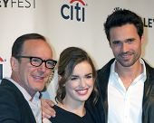LOS ANGELES - MAR 23:  Clark Gregg, Elizabeth Henstridge, Brett Dalton at the PaleyFEST 2014 -