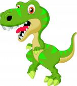 Cute tyrannosaurus cartoon