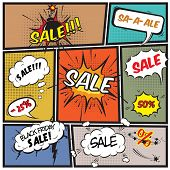 Comic best offer sale promotion bubbles