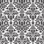 Damask Seamless Floral Pattern Background
