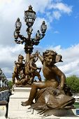 Pont Alexandre III Detail In Paris.