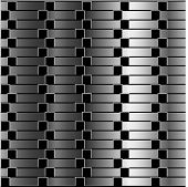 Optical illusion against metallic gradient