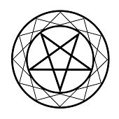 stock photo of pentacle  - A Stylized Pentacle - JPG