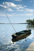 Fishing Boat on the Pond Rozmberk