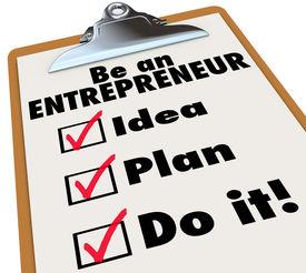 image of self-employment  - Be an Entrepreneur Checklist Own Business Self Employment - JPG