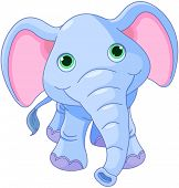 Illustration of cute baby elephant