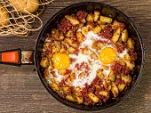 Rustic Minced Corned Beef Potato Hash