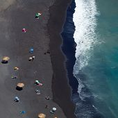 Black Sand Beach Abstract