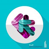 Modern geometric infographic in trendy flat style. Business abstract layout collection