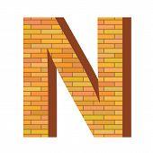 Brick Letter N