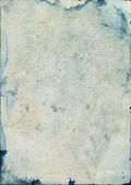 image of saddening  - Stained and Damaged old watercolor paper - JPG