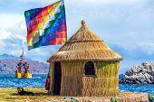 Whiphala Flag On Floating Island