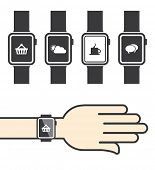 Smart watch with Icons