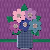 scrapbook bouquet of flowers